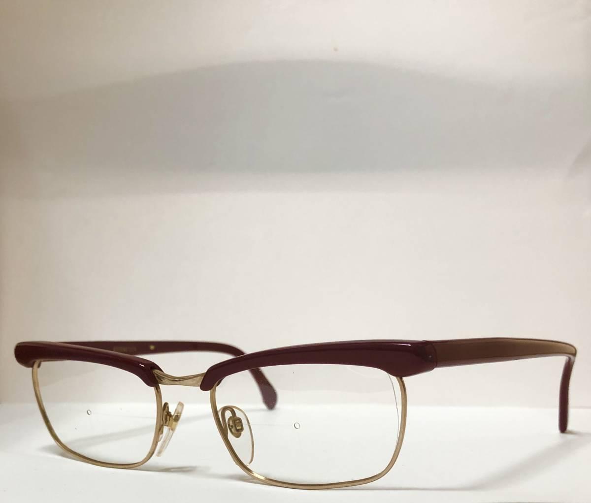 1960年代・新品】西ドイツ製ローデンストック 純正 Rodenstock 12K金張 ベッティーナ 赤茶色145サイズ メガネ_画像9