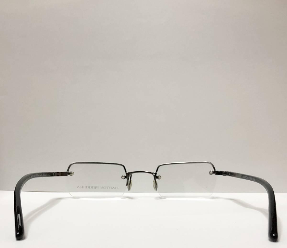 定価 84000円 バートンペレイラ ヘリックス 正規日本製 六角形レンズ 黒・シルバー メガネ 純正ケース付き Barton Perreira 米国ブランド_画像7