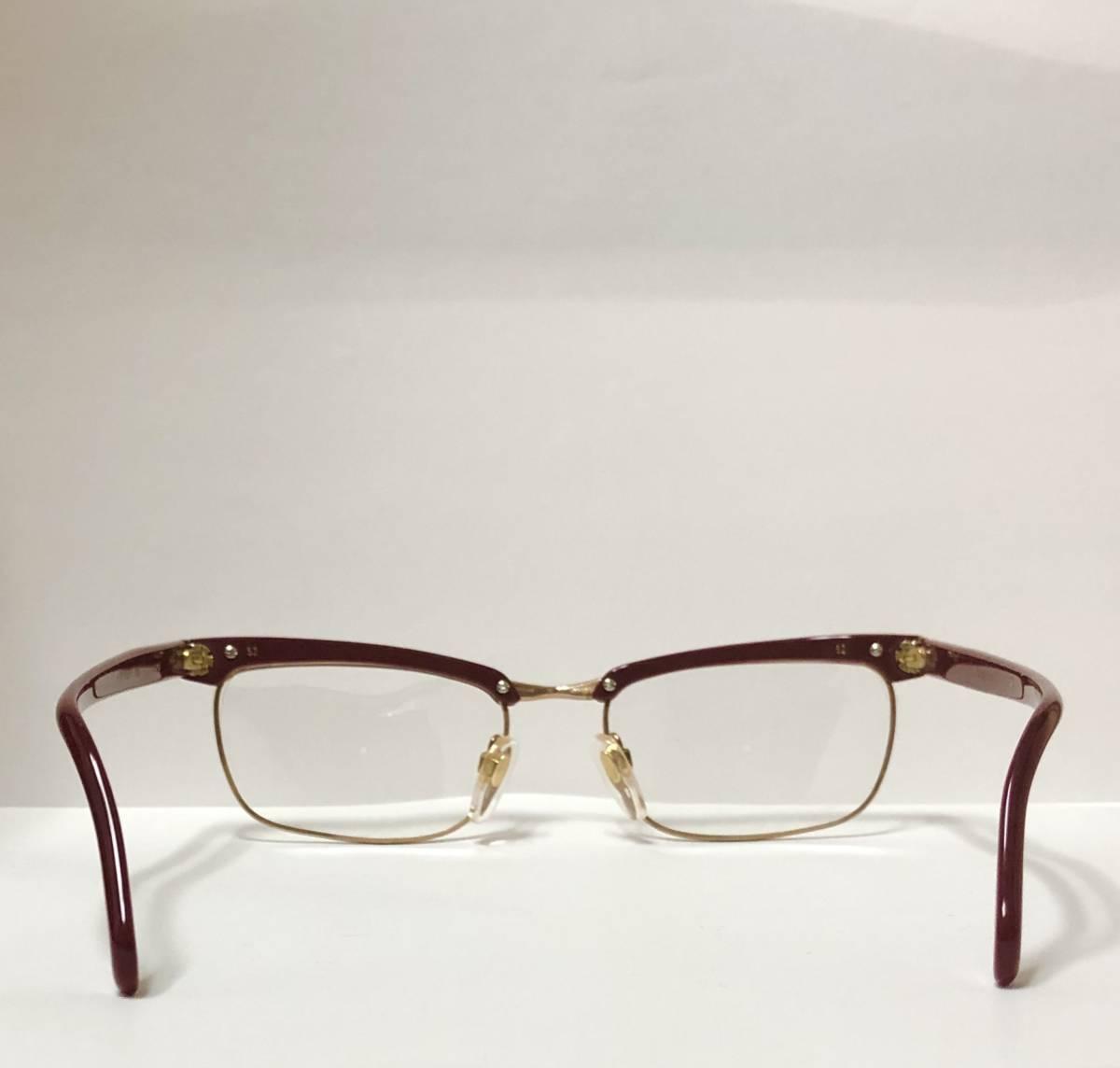 1960年代・新品】西ドイツ製ローデンストック 純正 Rodenstock 12K金張 ベッティーナ 赤茶色145サイズ メガネ_画像4