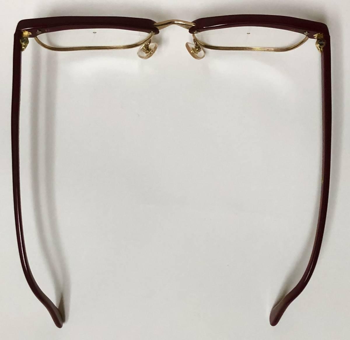 1960年代・新品】西ドイツ製ローデンストック 純正 Rodenstock 12K金張 ベッティーナ 赤茶色145サイズ メガネ_画像5
