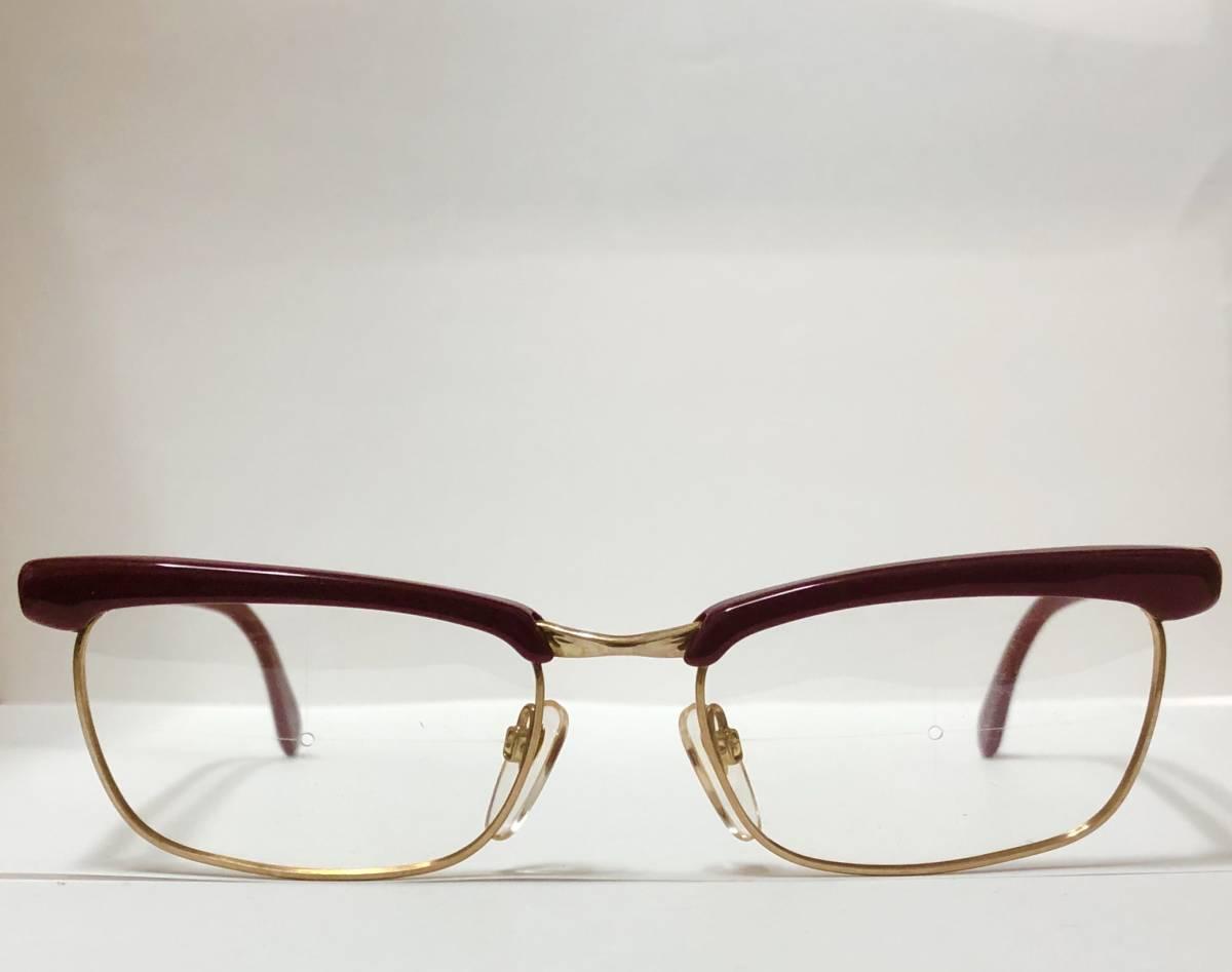 1960年代・新品】西ドイツ製ローデンストック 純正 Rodenstock 12K金張 ベッティーナ 赤茶色145サイズ メガネ_画像2