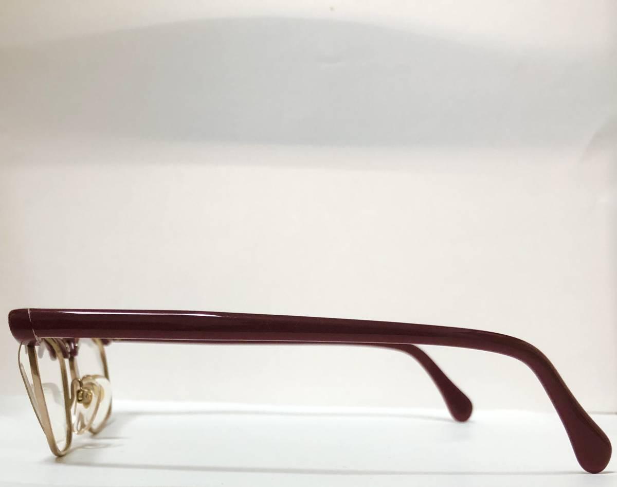 1960年代・新品】西ドイツ製ローデンストック 純正 Rodenstock 12K金張 ベッティーナ 赤茶色145サイズ メガネ_画像8