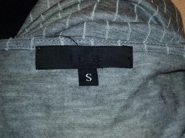 ICB 半袖カットソー グレー ストライプ Sサイズ_画像3