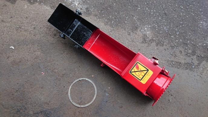 ヤンマー除雪機 部品 YSR80X シューター ⑦ 錆とりサフェサー塗装済_画像2