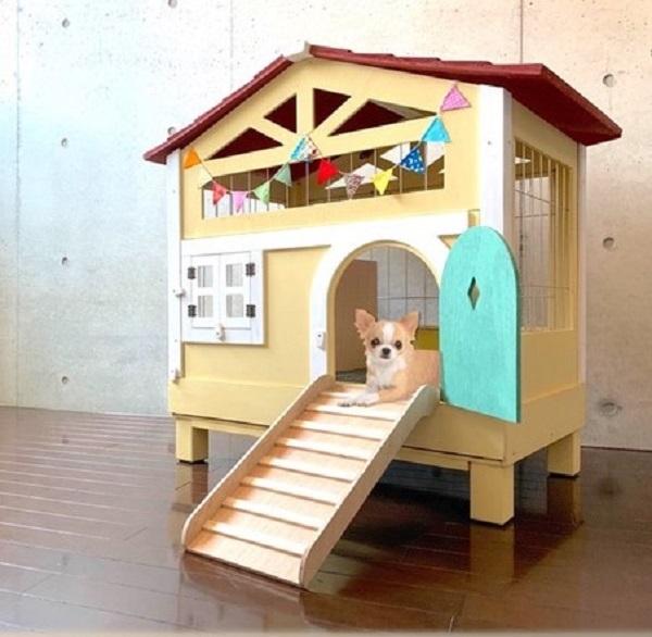 【新品アウトレット】【組立品】北欧デザインペットハウス うさぎ小屋 ラビットケージ ペットケージ ゲージ 犬 小動物 小型犬 猫 おしゃれ_画像1