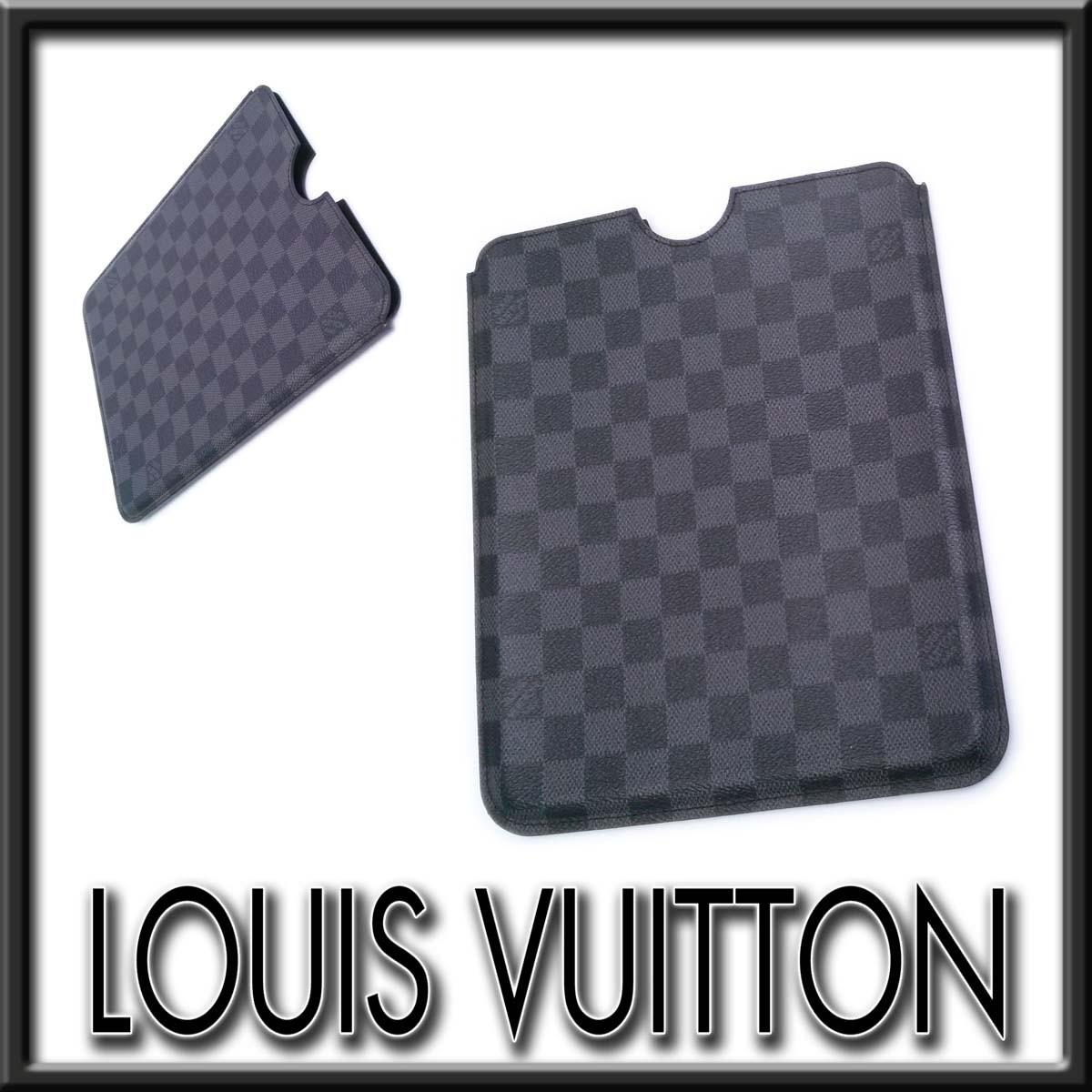 【美品】ルイヴィトン ダミエグラフィット iPad2ケース N63105 フランス製 たばこの匂いあり appre5967【一撃即決】