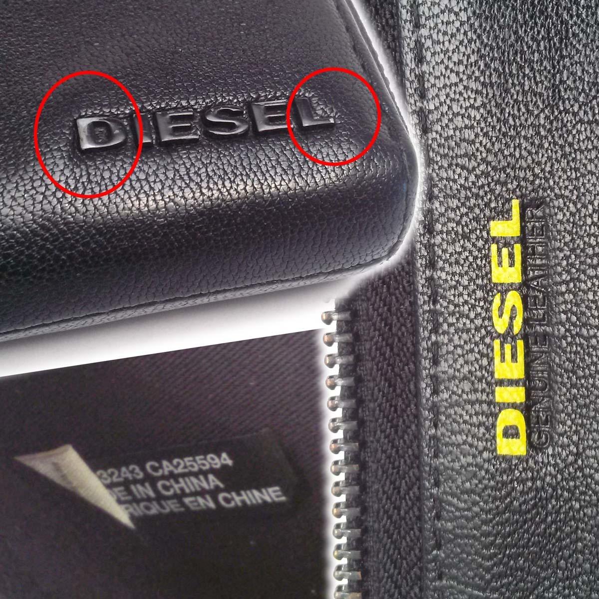 【美品】ディーゼル DIESEL ランウンドファスナー長財布 ブラック 黒 山羊革 メンズ X04458 appre6006【一撃即決】_画像9