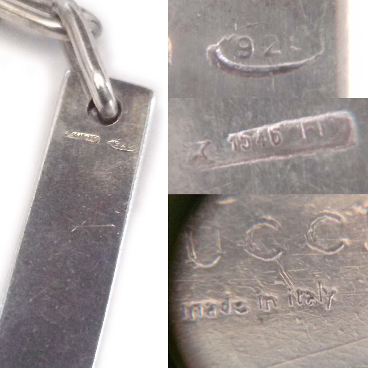 【美品】グッチ ブレスレット Ag925 チェーン19cm バープレート イタリア製 メンズ レディース 箱 保存袋 appre6003【一撃即決】_画像8