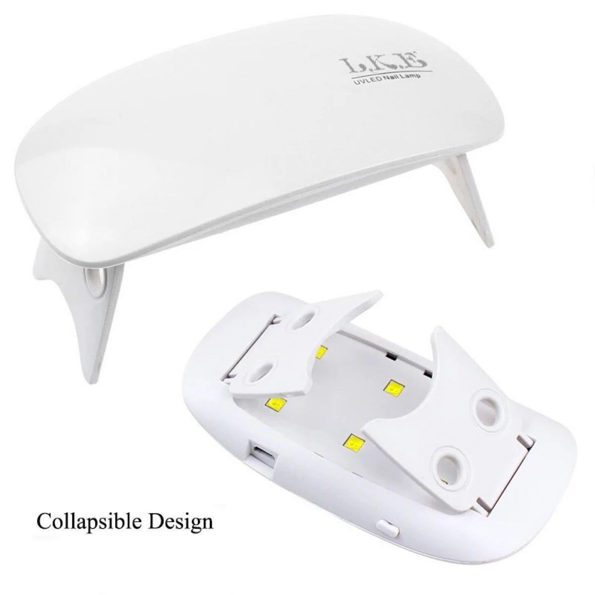 超!超薄型ミニ!LKE 12W LED/UVコンパクトネイルドライヤー