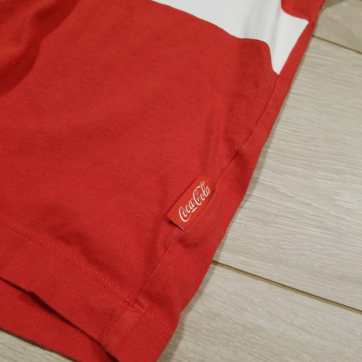 K275 GU ジーユー コカ・コーラ グラフィック Tシャツ M レディース カットソー 半袖 赤系 綿100% コットン トップス..