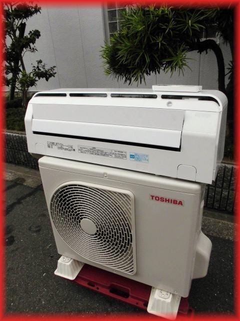 家庭用ルームエアコン 2.2k~6畳用 東芝 RAS-C225E5R 2018年製 フィルター掃除 空気清浄 壁掛け用 現状 冷房 暖房 100V_画像1
