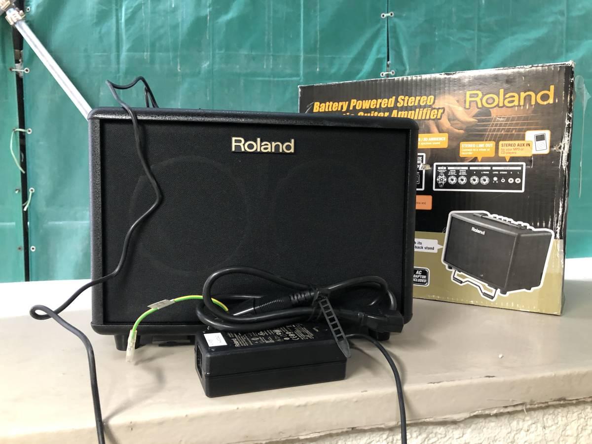 Roland ローランド アコースティック ギター アンプ 15W+15W ブラック AC-33 _画像1