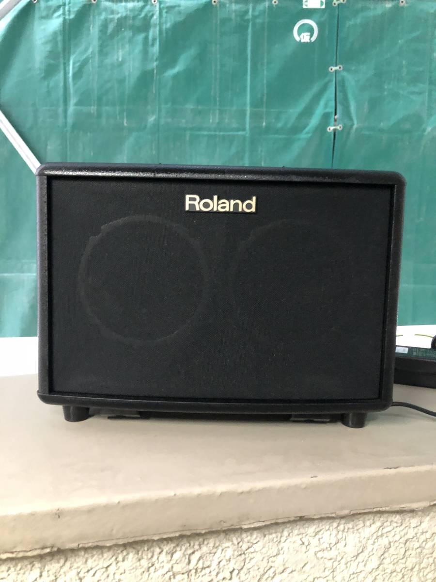 Roland ローランド アコースティック ギター アンプ 15W+15W ブラック AC-33 _画像2