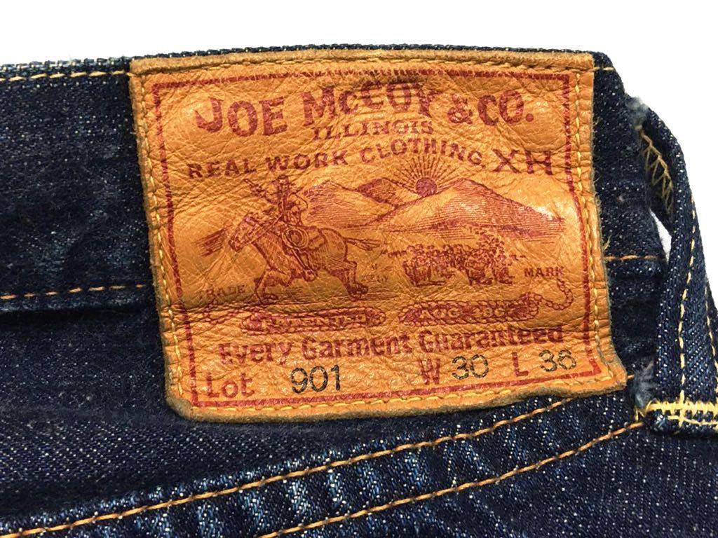 旧ジョーマッコイ JOE McCOY ヴィンテージ501xx風 901デニムジーンズ パンツ 30/W79裾上げ未加工ロング丈REAL McCOY リアルマッコイズ_画像9