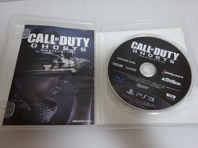 良品 PS3ソフト CALL OF DUTY GHOSTS コール オブ デューティ ゴースト メール便_画像3
