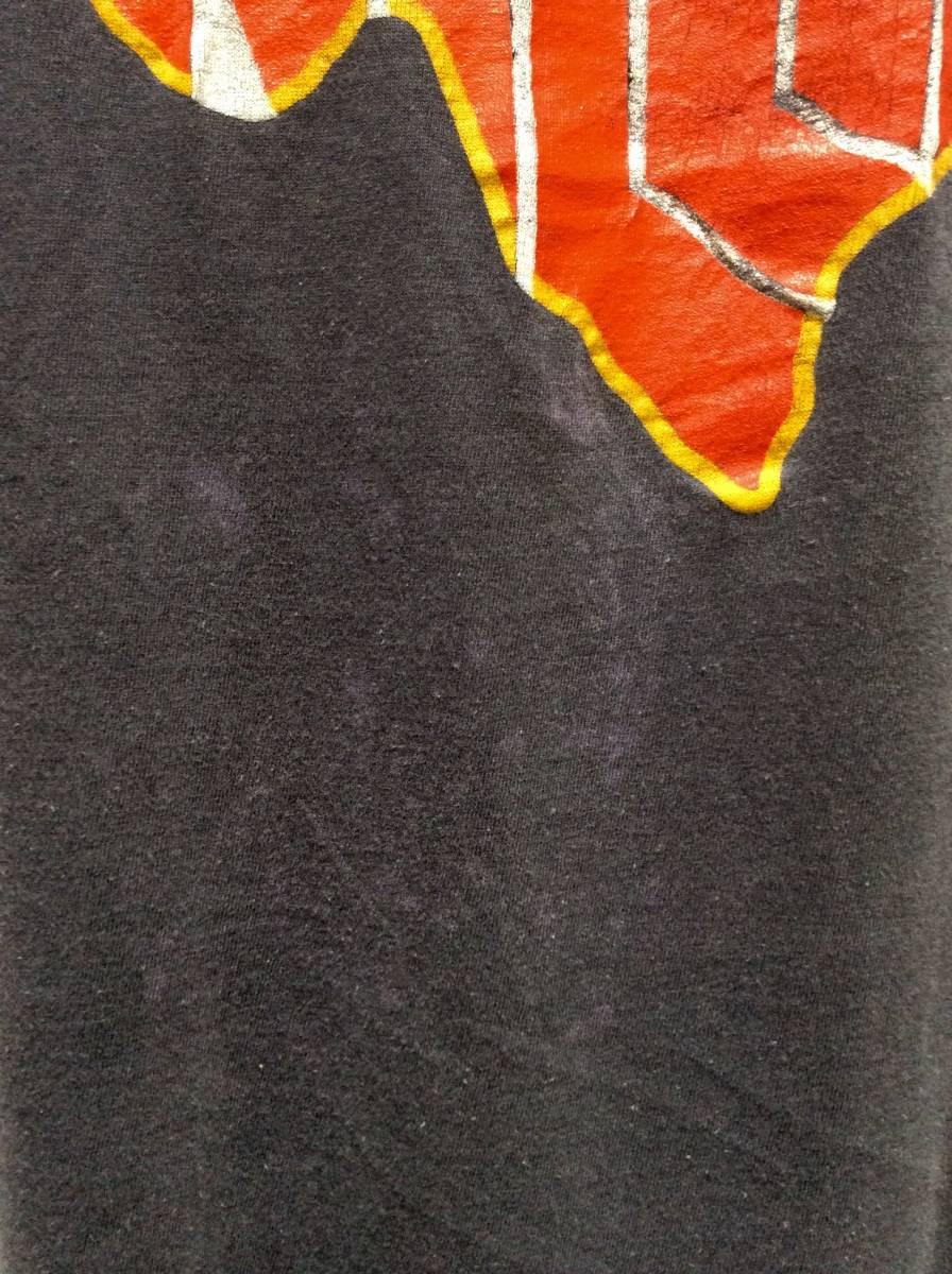 送料¥250◆80sビンテージテキサスWILLIE黒ノースリーブTシャツ_画像3