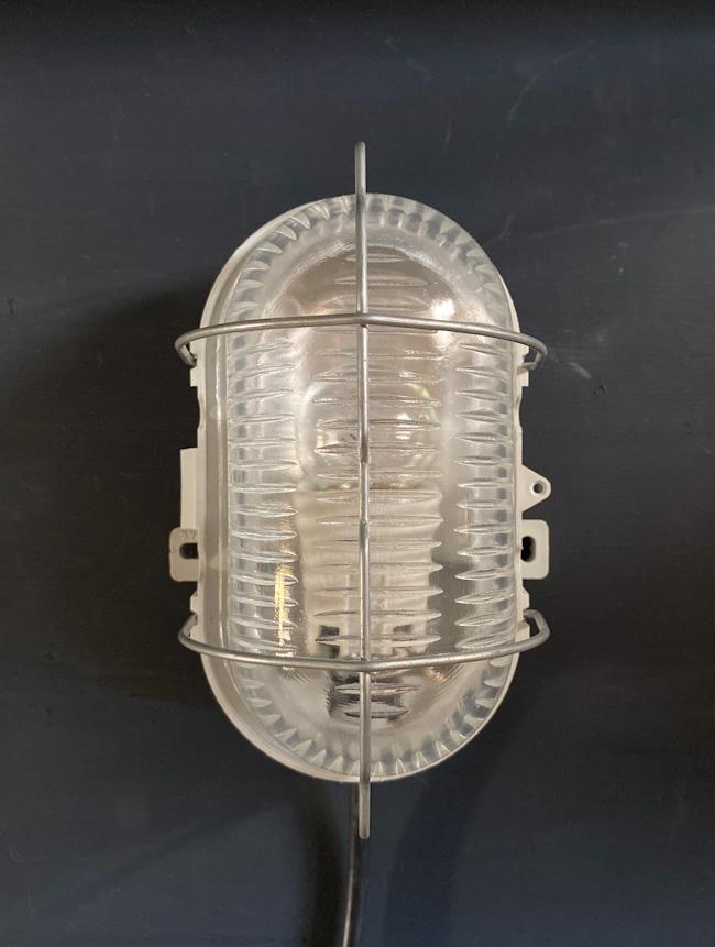 フランスヴィンテージカプセルランプW1/アンティークヨーロッパインダストリアル照明器具インテリアデザイン店舗内装什器アトリエカフェ_画像1