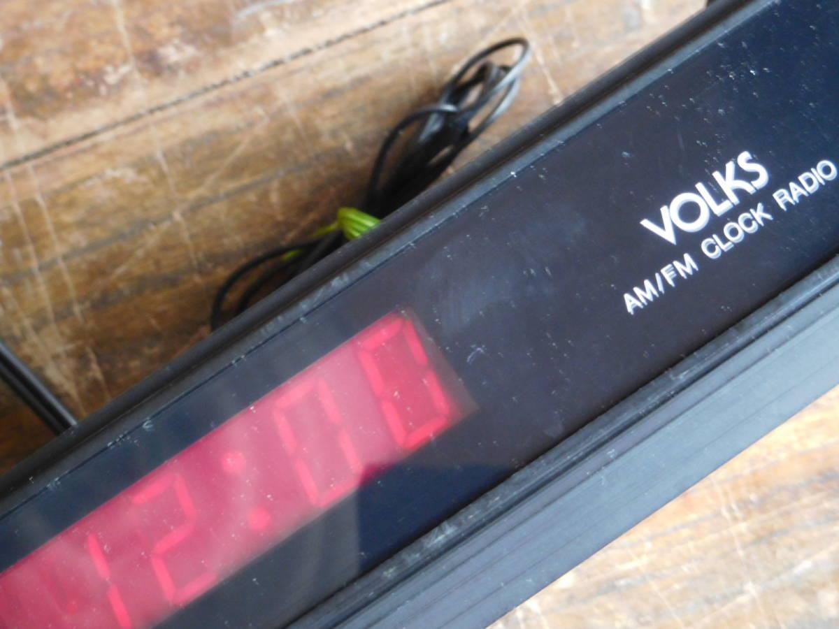 VOLKSU181B AM/FM CLOCK RADIO ラジオ 広田商会 16.5D12H5CM_画像3