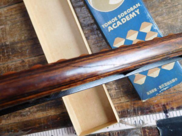 昭和レトロ トモエのそろばん アカデミー 本体 木製割れあり 箱 4玉23_画像2