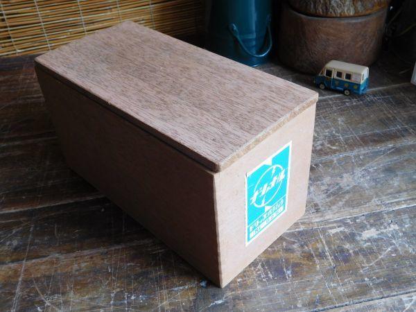 昭和レトロ アイロン箱 木製 ナショナル ドリップ式アイロン 27x13h15cm_画像1