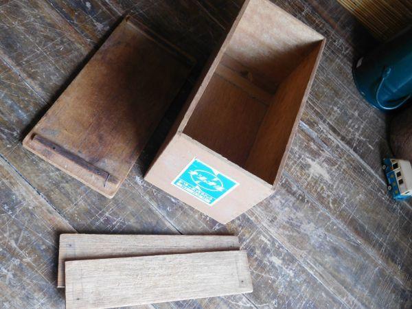 昭和レトロ アイロン箱 木製 ナショナル ドリップ式アイロン 27x13h15cm_画像2
