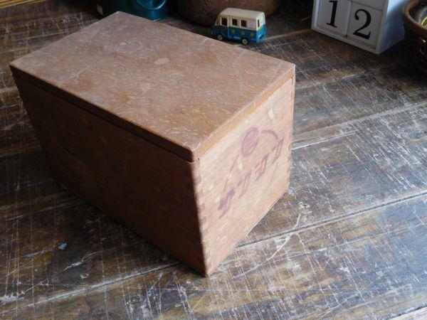 昭和レトロ アイロン箱 木製 サンシンアイロン 19x12h13cm_画像1