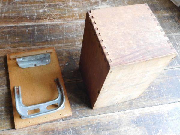 昭和レトロ アイロン箱 木製 サンシンアイロン 19x12h13cm_画像3