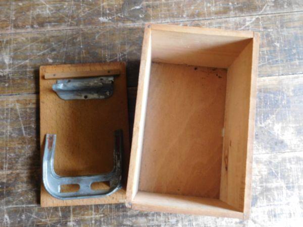 昭和レトロ アイロン箱 木製 サンシンアイロン 19x12h13cm_画像4