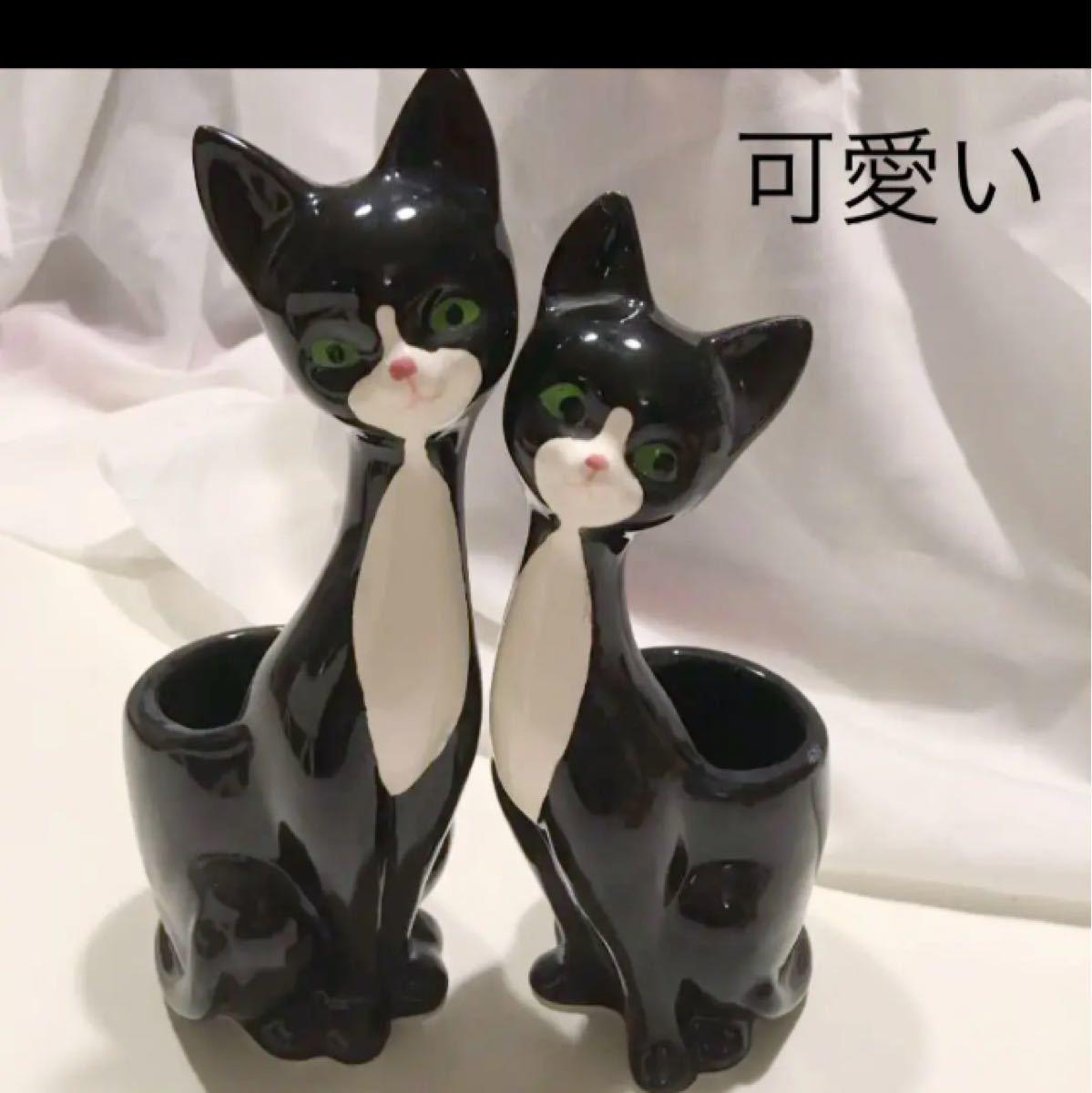 猫  フィギュリン 置物 雑貨 陶器 猫グッズ 猫飾り 猫小物 猫雑貨 猫顔