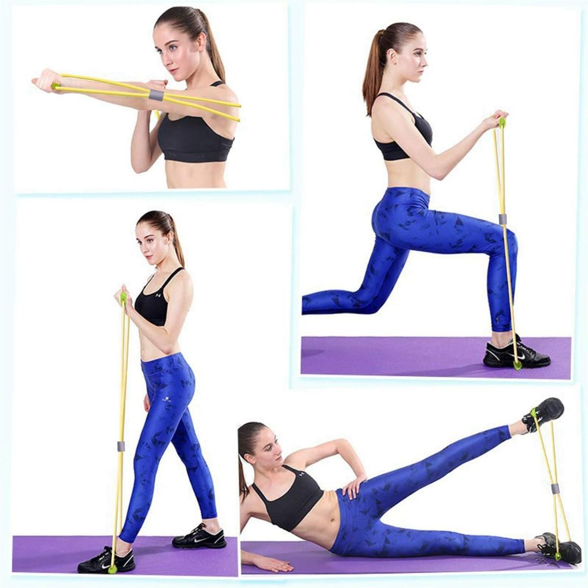 トレーニングチューブ 強度別6本セット筋力トレーニング 男女兼用 677