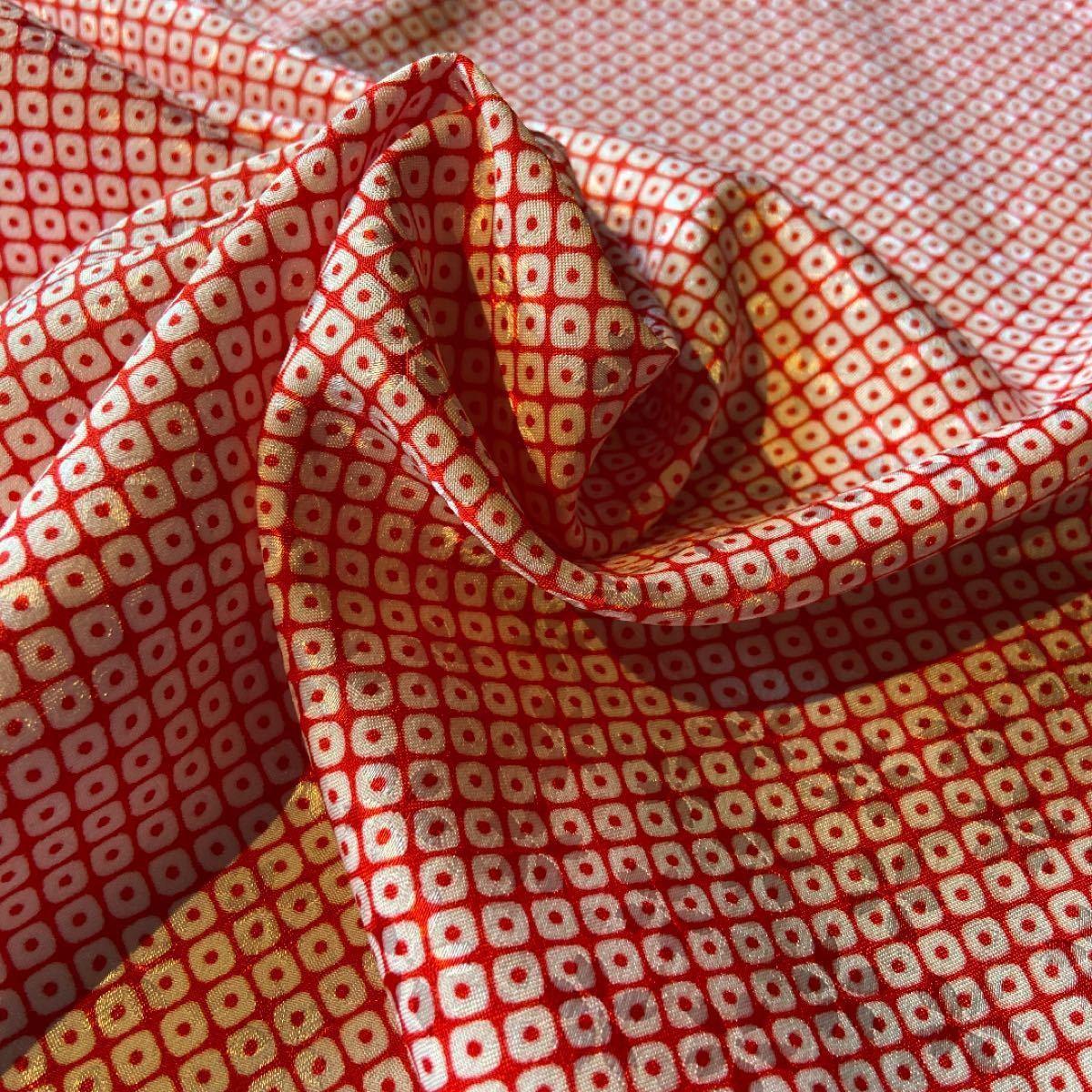 シルク薄手 正絹 桜ジャカード織 鹿の子柄 1m