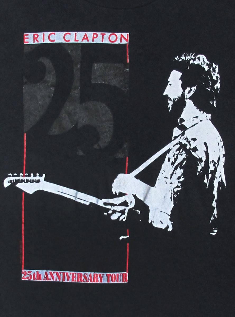 激レア! 1988年 USA製 ERIC CLAPTON 『25th ANNIVERSARY』 ツアー Tシャツ CREAM FRANK ZAPPA LED ZEPPELIN JIMMY PAGE DIRE STRAITS WHO_画像2