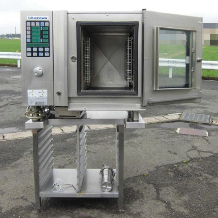 Я 北沢産業 ガススチームコンベクションオーブン ECVM-6G 2010年式 ジャンク部品取り 中古 KF_画像5