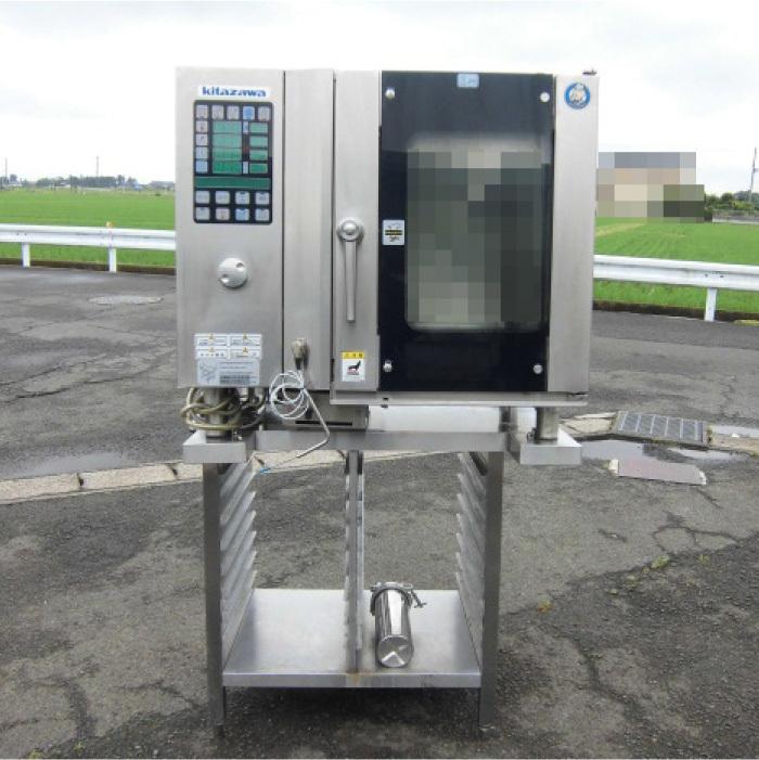 Я 北沢産業 ガススチームコンベクションオーブン ECVM-6G 2010年式 ジャンク部品取り 中古 KF_画像2