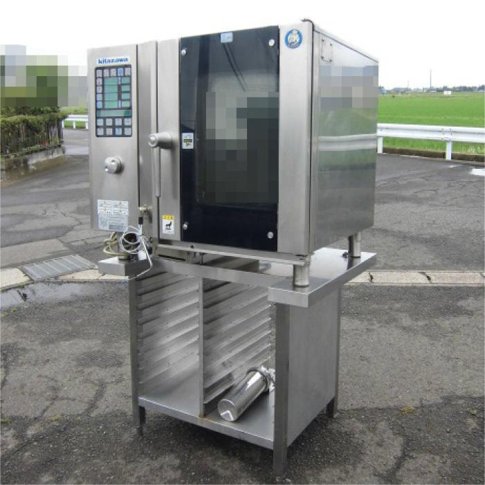 Я 北沢産業 ガススチームコンベクションオーブン ECVM-6G 2010年式 ジャンク部品取り 中古 KF_画像1