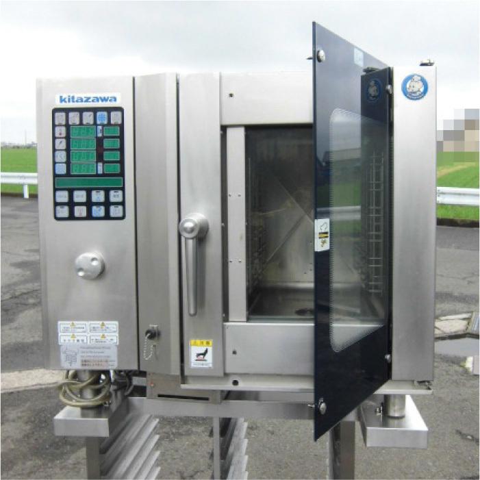 Я 北沢産業 ガススチームコンベクションオーブン ECVM-6G 2010年式 ジャンク部品取り 中古 KF_画像4