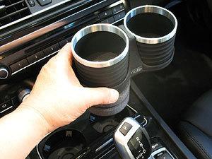 【M's】 E65 E66 F01 F02 BMW 7シリーズ ALCABO ドリンクホルダー ブラック//AL-B109B ALB109B アルカボ カップホルダー_画像2