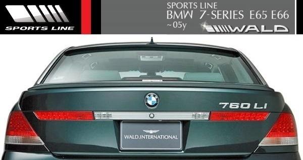 【M's】E65 E66 BMW 735i 745i 745Li 760Li 前期用(2001y-2005y)WALD SPORTS LINE トランクスポイラー//FRP エアロ ヴァルド 7シリーズ_画像1