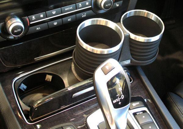 【M's】F01 F02 E65 E66 BMW 7シリーズ ALCABO ドリンクホルダー ブラック//AL-B109B ALB109B アルカボ カップホルダー_画像3