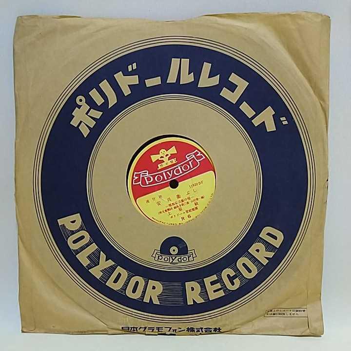 ◆◇SP盤レコード 徳利の別れ 上原敏 / 安兵衛ぶし R6 蓄音機用 中古品◇◆ 1133_画像7