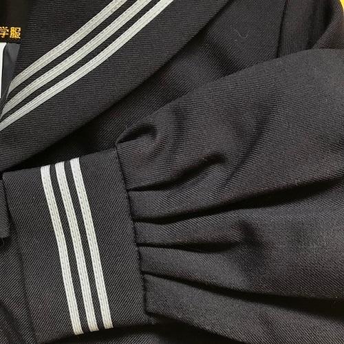 【送料無料】スクールパール カブリセーラー服 3着セット グレー3本線 冬服 175A 新品 プリンセスライン_画像4