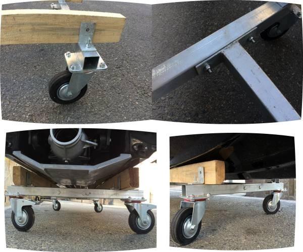 「ジェットのメンテナンスには必需品。移動用台車」の画像3