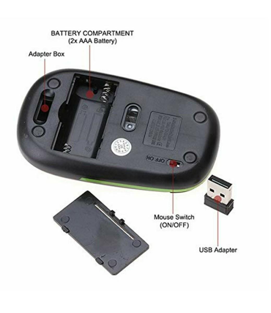 ワイヤレスマウス  USBレシーバー付き 2.4G
