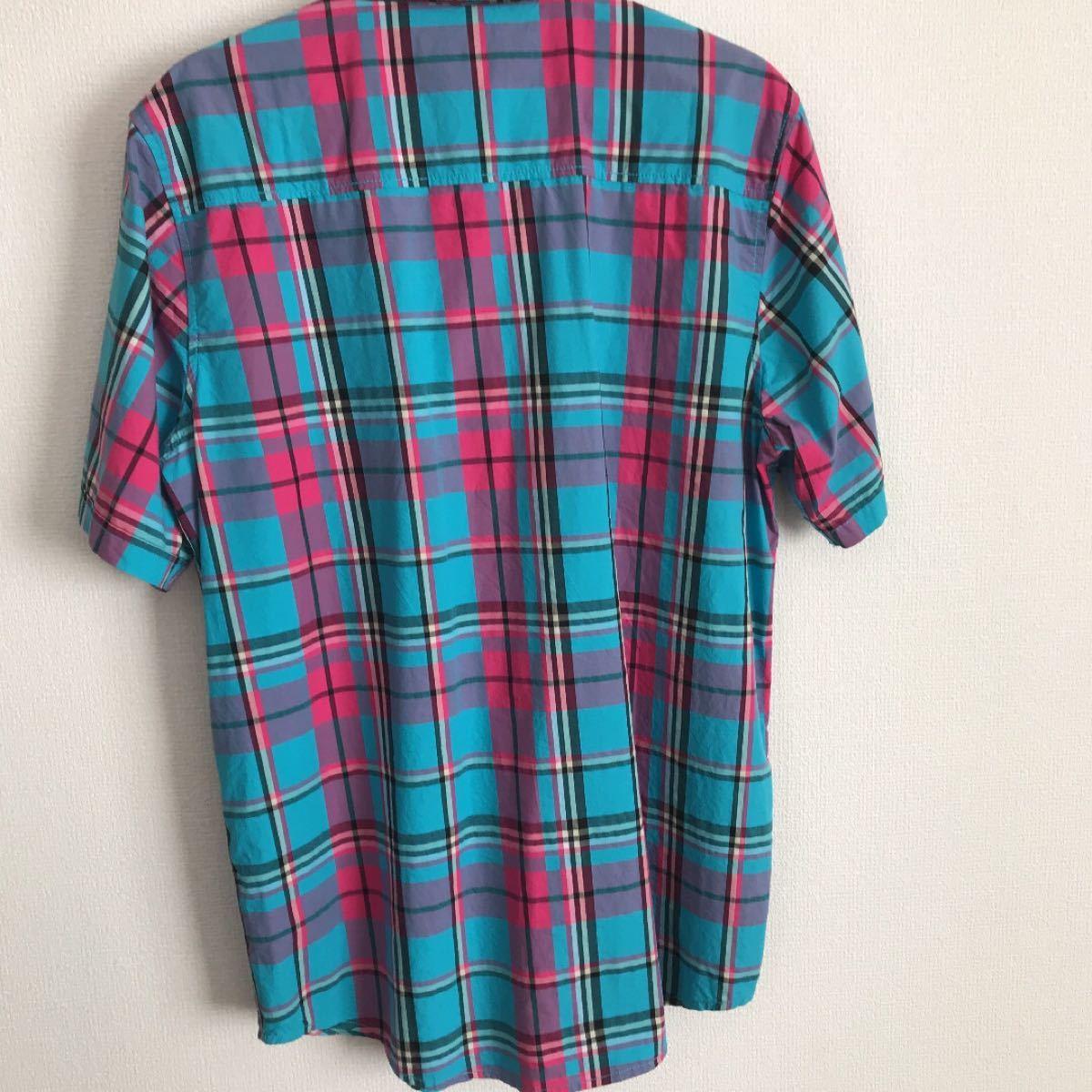 LRG  チェック柄 半袖シャツ