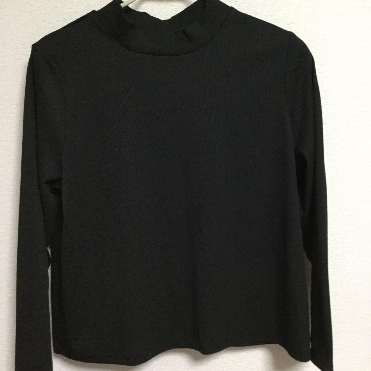 カットソー 長袖 4L 黒