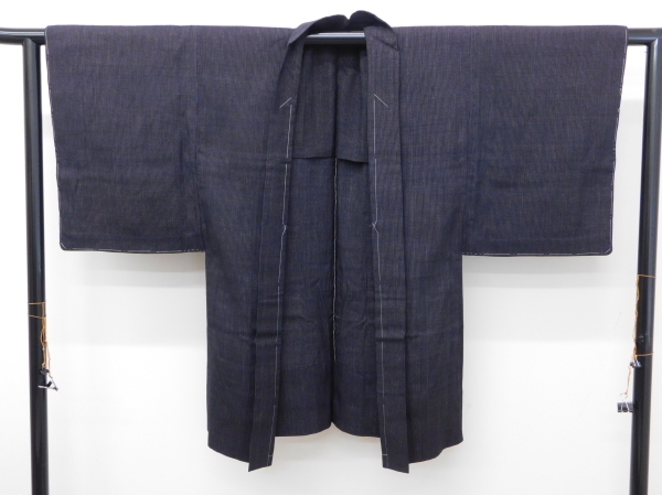 〔楽布〕P7137 本物 昔の結城紬羽織 男物 未着用品 onk_画像2