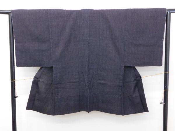 〔楽布〕P7137 本物 昔の結城紬羽織 男物 未着用品 onk_画像3