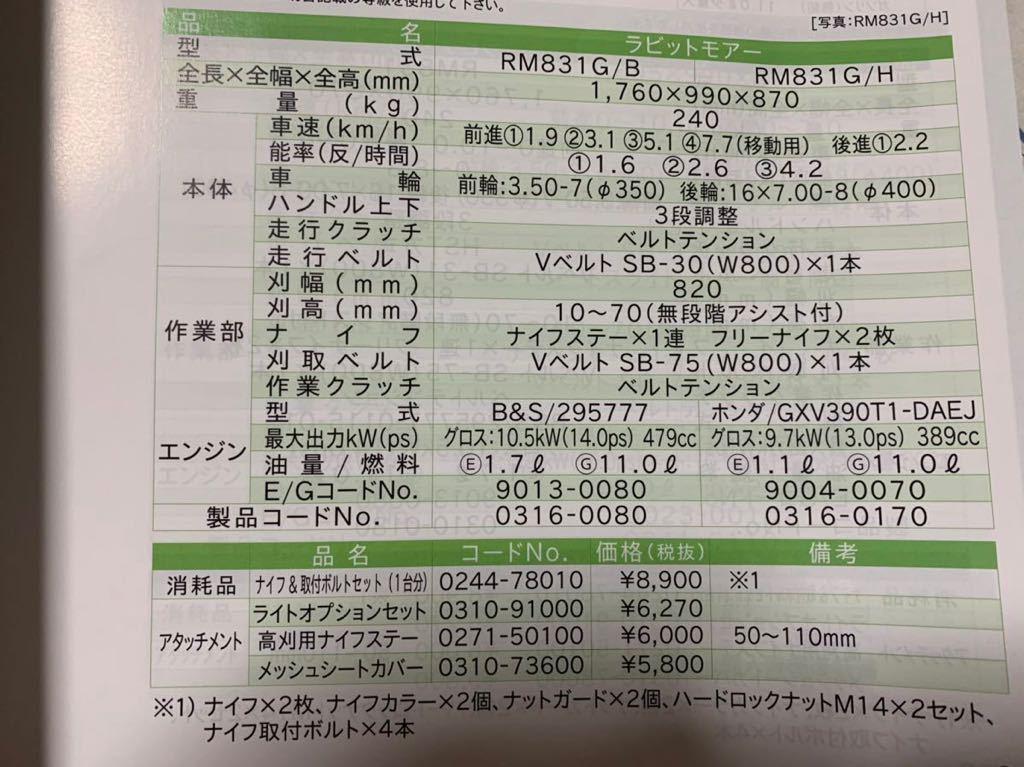 新品☆RM831G/B☆14馬力☆セル☆刈り幅82cm☆売り切り_画像3