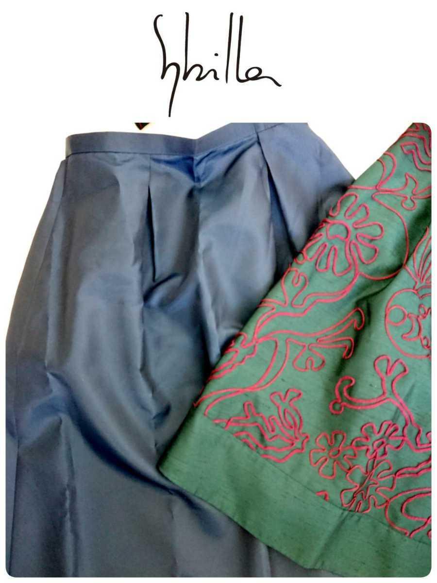 美品 Sybilla シビラ セットアップ ノーカラージャケット ワンピース 結婚式 二次会 フォーマルセレモニー M_画像5