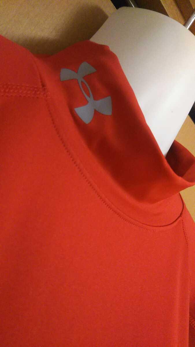 送料無料!アンダーアーマー●メンズ●ヒートギアピッタリと着用●半袖コンプレッションシャツ●LG(Lサイズ)●レッド赤●定価4000円
